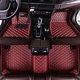 Jiahe El Alfombra Coche para Ford Edge 7-Seat 2015-2018 El Alfombra Coche para Cuero Esteras Coche Antideslizantes Alfombrillas Moqueta Impermeables Set Vino Tinto