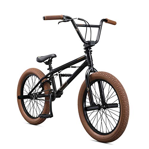 Mongoose Legion L20 Freestyle BMX Bike Line for Beginner-Level to Advanced Riders, Steel Frame, 20-Inch Wheels, Black
