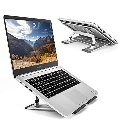 Moutik Laptop Stand For Dell Macbook Holder: Portable Computer Riser Notebook Mount Adjustable Metal Aluminum Laptop Tablet Stand Holder For Apple MacBook Air Pro Dell XPS HP Lenovo All 10-15.6'Laptop