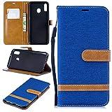 NLRHH Couleur Neige en Cuir Wallet Case for Galaxy M20 avec Support Feature Anti-Choc Flip,...