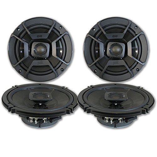 "4 x Polk Audio 6.5"" 2-Way Car Audio Boat Marine UTV Audio Coaxial Speakers 6-1/2"""