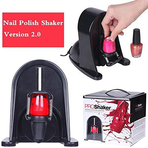 Réglable de Vernis à ongles Machine à secouer 360 degré Professionnel Gel Bouteille Shaker Vernis à ongles Vernis de séparation Oscillateur Laque pour éviter la solidification , Black