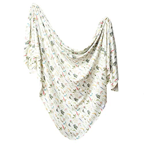 Large Premium Knit Baby Swaddle Receiving Blanket Aspen by Copper Pearl