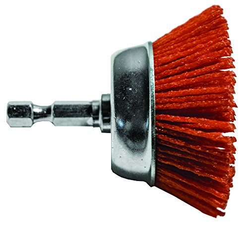 Century Drill & Tool 77231 Coarse Nylon Abrasive Cup Brush, 3'