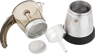 Cafetera italiana,Tianya??,Cafetera eléctrica Moka Pot Espresso, Coffee Percolator 300ml EU Plug,Dispositivo de prevención de fugas, seguridad y fiabilidad (A)