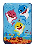 Baby Shark BSH129 Musical Warm, Plush, Throw Blanket That Plays The Baby Shark Theme Song - Extra Cozy and Comfy for Your Toddler, Multicolor, 30x43 Inch (Pack of 1)
