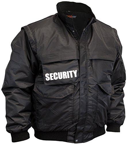 PRODEF Security-Blouson mit abnehmbaren Security Schriftzügen, Bomberjacken-Schnitt für Türsteher, Größe M