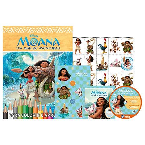 Moana. Disney - Caixa com 5 em 1 (+DVD)