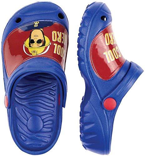 Feuerwehrmann Sam Jungen Sandalen Pantoffeln Schuhe Badeschuhe blau (24/25)