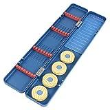 DealMux Blu Magnetico Pesca Bobina Box w Linea di Pesca Gancio Appeso w titolari Bobber