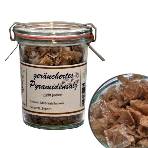 direct&friendly geräuchertes Pyramidensalz aus Zypern (70 g Weckglas)