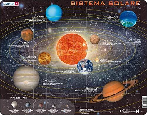 Larsen SS1 Sistema Solare, Edizione Italiano, Puzzle Incorniciato con 70 Pezzi