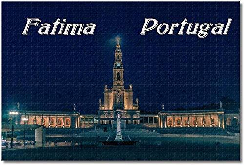 Puzzle  Portugal Santuario de Fátima Rompecabezas para Adultos Niños 1000 Piezas Juego de Rompecabezas de Madera para Regalos Decoración del hogar