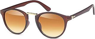 styleBREAKER - gafas de sol con lentes redondas ovaladas y puente nasal de metal, montura de plástico-metal, unisex 09020084