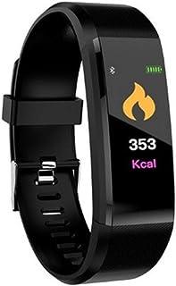 ZHANG Pulsera Actividad Impermeable Smartband con Pulsómetro y Tensiómetro, Reloj Medidor Tensión Arterial, Pulsera Deportiva con GPS