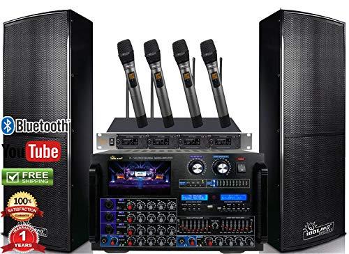 Discover Bargain Bundle IDOLpro IPS-DELUXE I 1500W Premium Loudspeakers & Mixing Amplifier IP-7500 &...