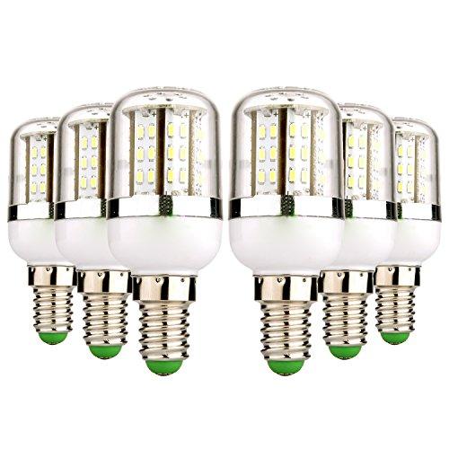 CXMY Bombilla LED E14 48LED 3014SMD 5W 400-500 LM Blanco cálido LED Blanco frío Luces AC/DC 12-24V (6PCS) Utilizado para el reemplazo de la Bombilla (Size : Warm White)