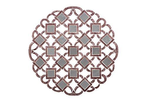 Faisan Home Panel Cuadrado Espejitos Sant, Madera, Chocolate y Blanco, 80 x 80 cm