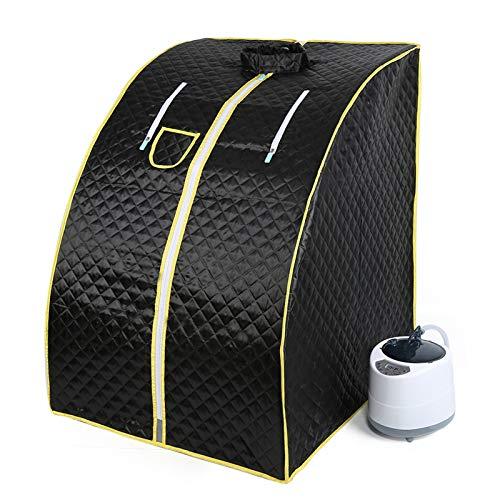 Flyelf Sauna Portatile Personale Spa Detoxify Perdere Peso 98 x 70 x 80 cm 1.8L 3 Colore (Nero)