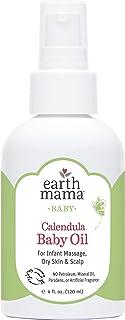 Earth Mama Calendula Baby Oil for Infant Massage, 4-Fluid Ounce