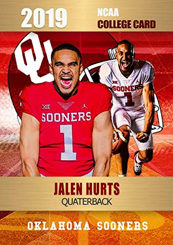 JALEN HURTS Rookie 2019 OKLAHOMA SOONERS OSU.CARD IN A ONE TOUCH MAGNETIC CASE