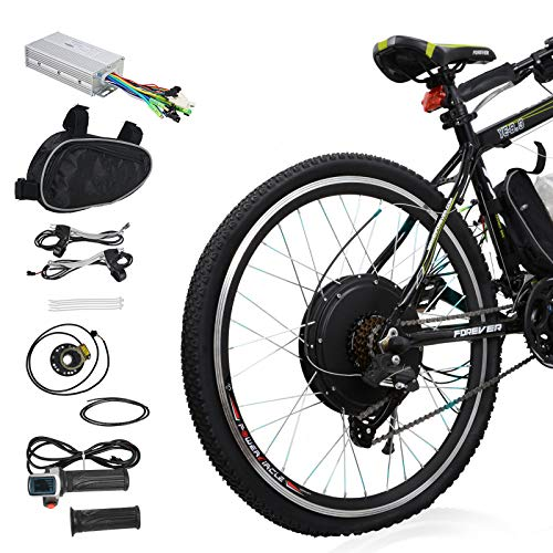 """Voilamart E-Bike Conversion Kit 26"""" Rear Wheel 36V 500W Electric Bicycle Conversion Motor Kit with Intelligent Controller and PAS System for Road Bike"""
