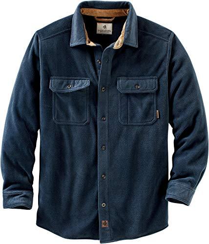 Legendary Whitetails Men's Navigator Fleece Button Down Shirt Navy X-Large