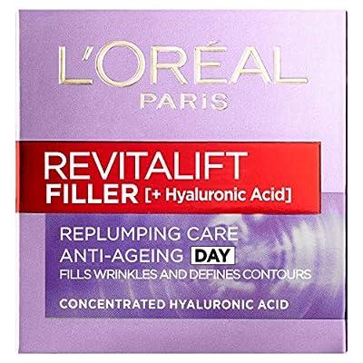 L'Oreal Paris Revitalift Filler + Hyaluronic Acid Anti Ageing Anti-Wrinkle Replumping Day Cream 50 ml by Loreal