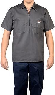 Short Sleeve 1/2 Zip Shirt 183 Charcoal Gray
