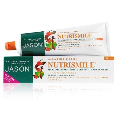 JASON NutriSmile Fluoride Gel Toothpaste, 6 Ounce Tubes (Pack of 3)