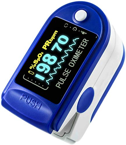 Kashi Surgicals Hotaru Fingertip Pulse Oximeter Blood Oxygen Spo2 Saturation and Heart Monitor