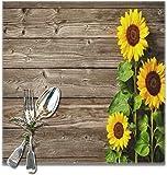 Set di 6 tovagliette riutilizzabili VunKo con girasoli floreali, ideali per l'uso quotidiano, tovagliette antiscivolo, quadrate 30,5 x 30,5 cm, per cucina, tavolo da pranzo, decorazione per la casa
