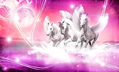 FORWALL Vlies Fototapete Tapete Vliestapete Dekoshop Pegasus auf rosa Hintergrund AD589VEXXL (312cm x 219cm) Photo Wallpaper Mural