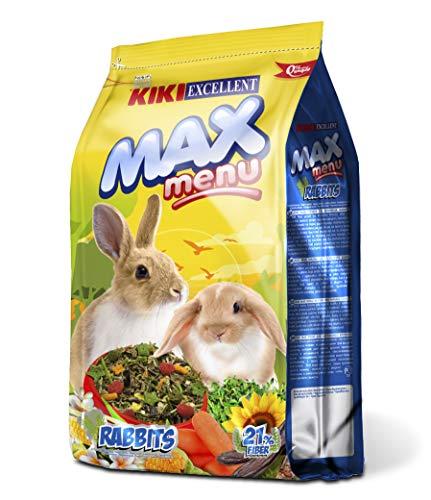 KIKI Alimento Completo para Conejos Enanos MAX Menu 1Kg