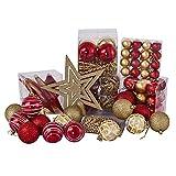 Best Goods Juego de 102 bolas de Navidad para decorar el árbol de Navidad, bodas, fiestas