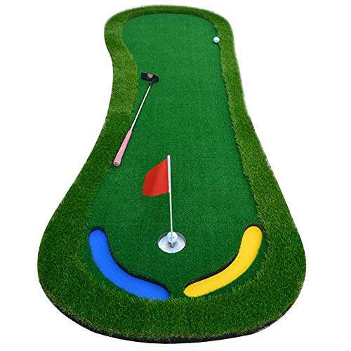 Golf Putting Mat Golf Putting Equipo De Ayuda del Patio Trasero De Entrenamiento De Golf Cubierta Verde De La Práctica con 2 Agujeros para Los Jugadores Principiantes hasta Profesionales