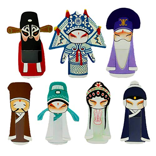 NHW 35 Exquisite chinesische klassische Peking Opera Mini Facebook-Lesezeichen, kreatives Schreibwaren-Set, Bestes Geschenk für Studenten, 43395-1115, 7