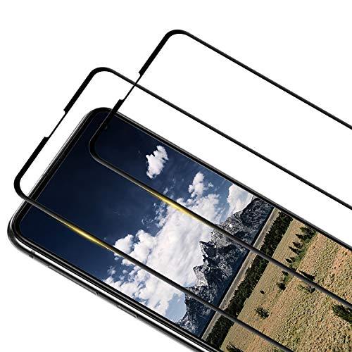 RIIMUHIR [2 Stück] Panzerglasfolie Schutzfolie für Samsung Galaxy S10E Displayschutzfolie, 9H Härte Panzerglasfolie, 3D Runde Kante Glasfolie, Anti-Bläschen, Anti-Kratzen, Samsung S10E Panzerglas