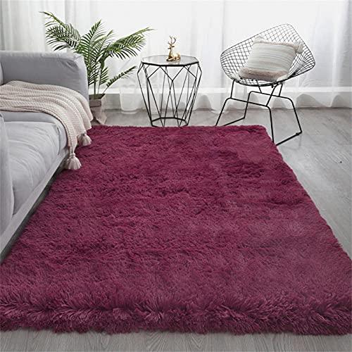 Einfacher Einfarbiger Plüsch-Teppich, Nachttischdecke Im Schlafzimmer, Sofa-Bodenmatte Im Wohnzimmer, Home-Couchtisch-Matte 60x160cm