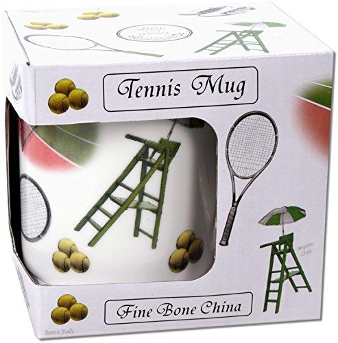 Bon China Becher Tasse Tennis im Geschenkkarton 300 ml Fine Porzellan Happy Mug Sport