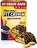 Fit Crunch High Protein Bars, Value Pack, Snack Size Protein Bars, Gluten Free, Chocolate Peanut Butter, 24 ct.