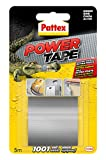 Pattex Power Tape, cinta multiusos resistente, fuerte, corte fácil, gris, 5 m