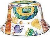 DUTRIX Sombrero de Pescador Unisex Sombrero de Pescador de Verano Estampado de flamencos de Acuarela Tapas de Cubo de Viaje-Guitarra eléctrica de Acuarela (2)