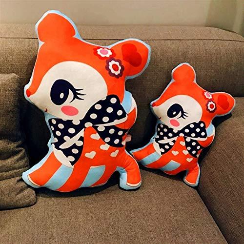 Xpccj Funda de cojín, 1 pieza de 40/55 cm, bonito cojín de peluche de ciervo sika suave de peluche, muñeco Kawaii, decoración de sofá, juguete de cumpleaños, regalo para niños (altura: 40 cm)