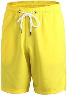 pujingge Mens Open Bottom Big and Tall Bermuda Multi Pockets Short Pants