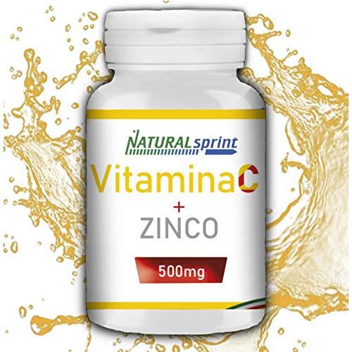 Natural Sprint - Integratore Vitamina C 500 mg lento rilascio + Zinco - 240 Compresse - Made in Italy