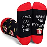 MILUMILUU Men's If You can Read This Socks Funny Tacos Sushi Popcorn Bacon Coffee Gift Socks Popcorn