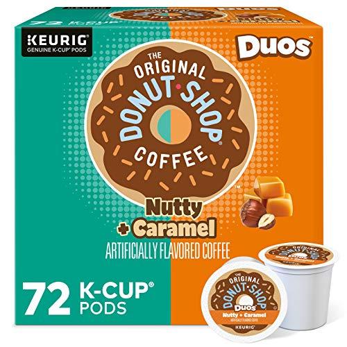The Original Donut Shop Nutty Caramel, Single-Serve Keurig K-Cup Pods, Flavored Light Roast Coffee, 72 Count