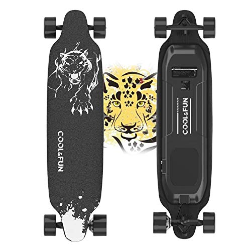 Electric Skateboard, 400W Brushless Motor Electric Skateboard with Remote, 20 MPH & 10 Miles Long-Range, 3 Speeds Adjustment, Max Load 265 lbs, Creative Version 11 Layers Maple Electric Skateboard