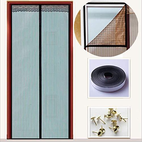 Nileco Mute Mesh Magnetische deur, geschikt voor deuren tot 51 inch x 86 inch met anti-moskito scherm en full frame fit